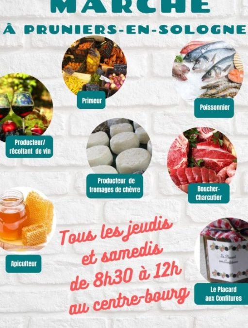 Marché local de Pruniers-en-Sologne