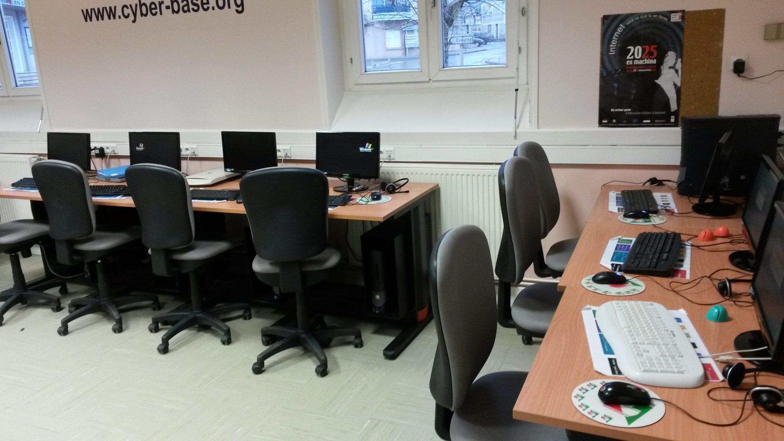 Vue intérieur de la Cyber Base de Pruniers en Sologne