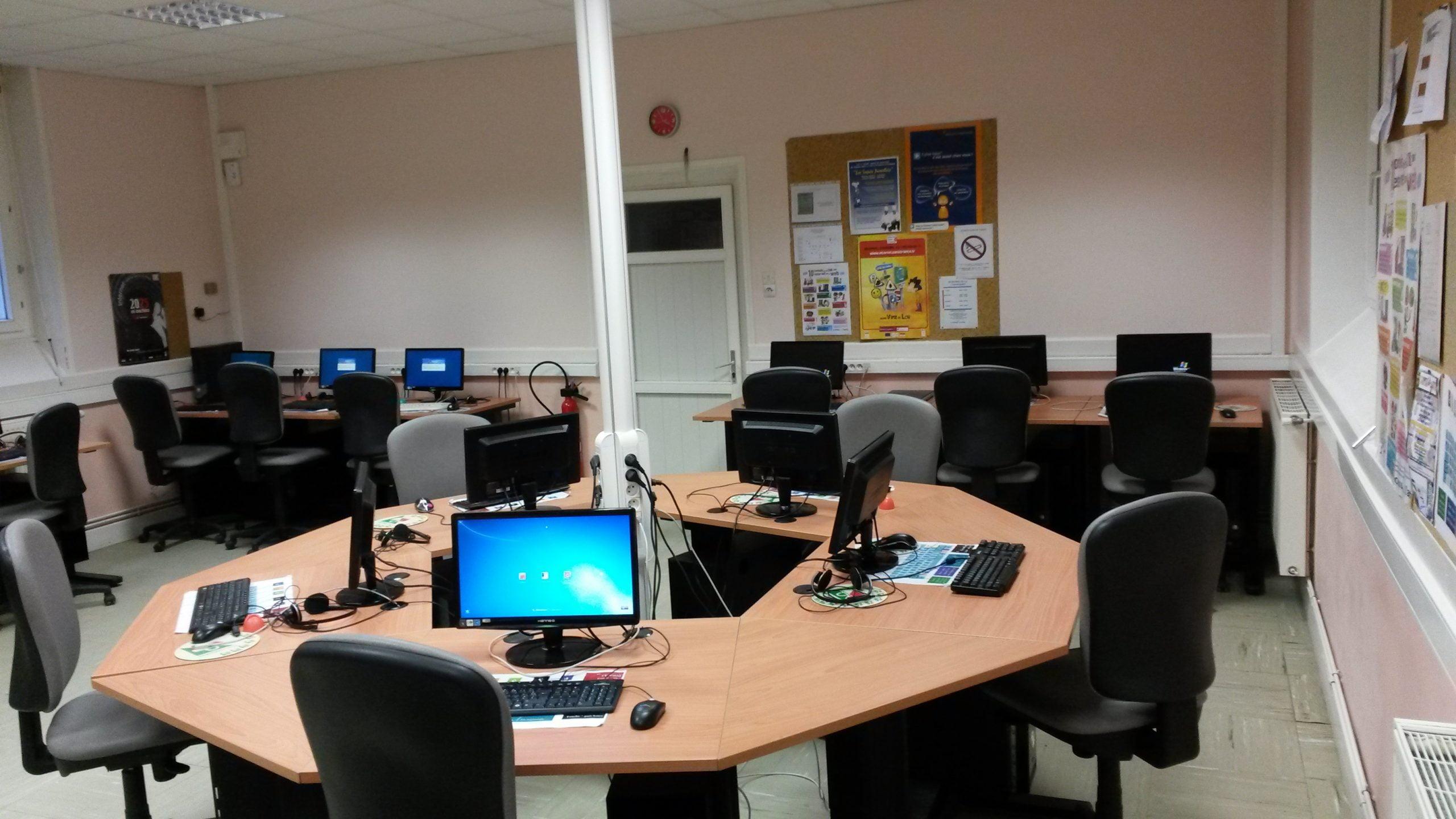 Autre vue intérieur de la Cyber Base de Pruniers en Sologne