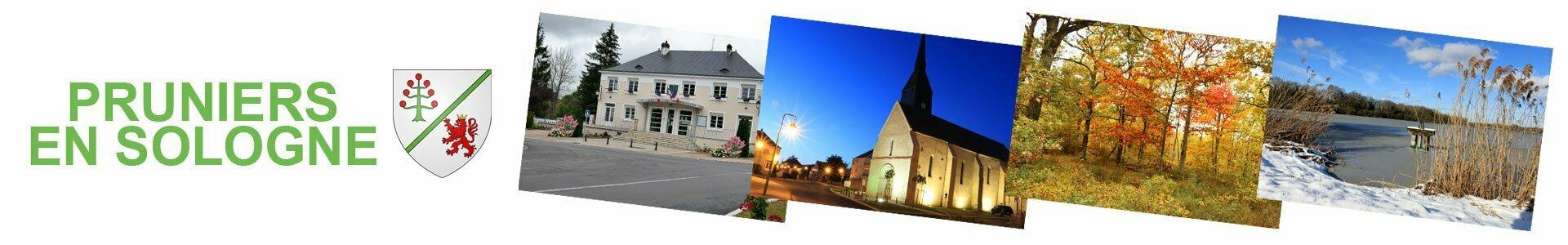 Panorama de la commune de Pruniers en Sologne