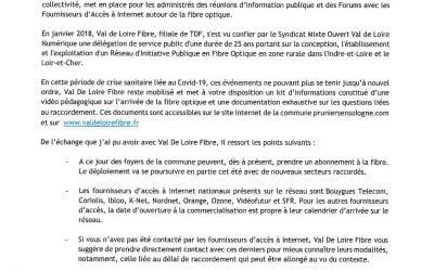 La fibre optique s'installe à Pruniers-en-Sologne